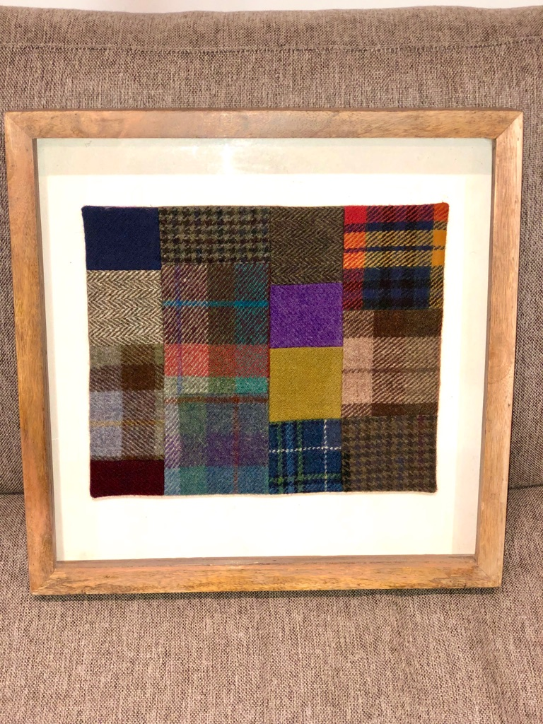 Harris Tweed wall art