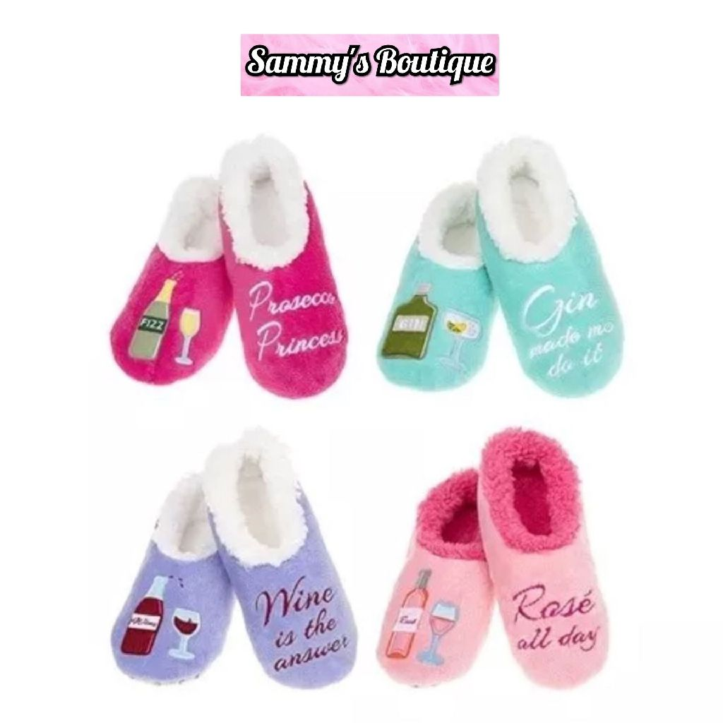 Ladies Fun Snoozie Boozie Slippers