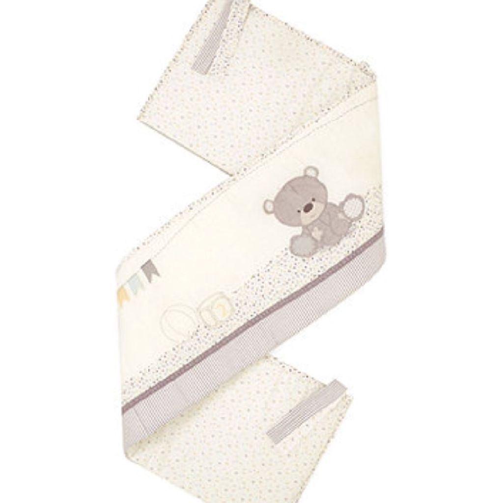 Mother care Teddy's toy box cot bumper