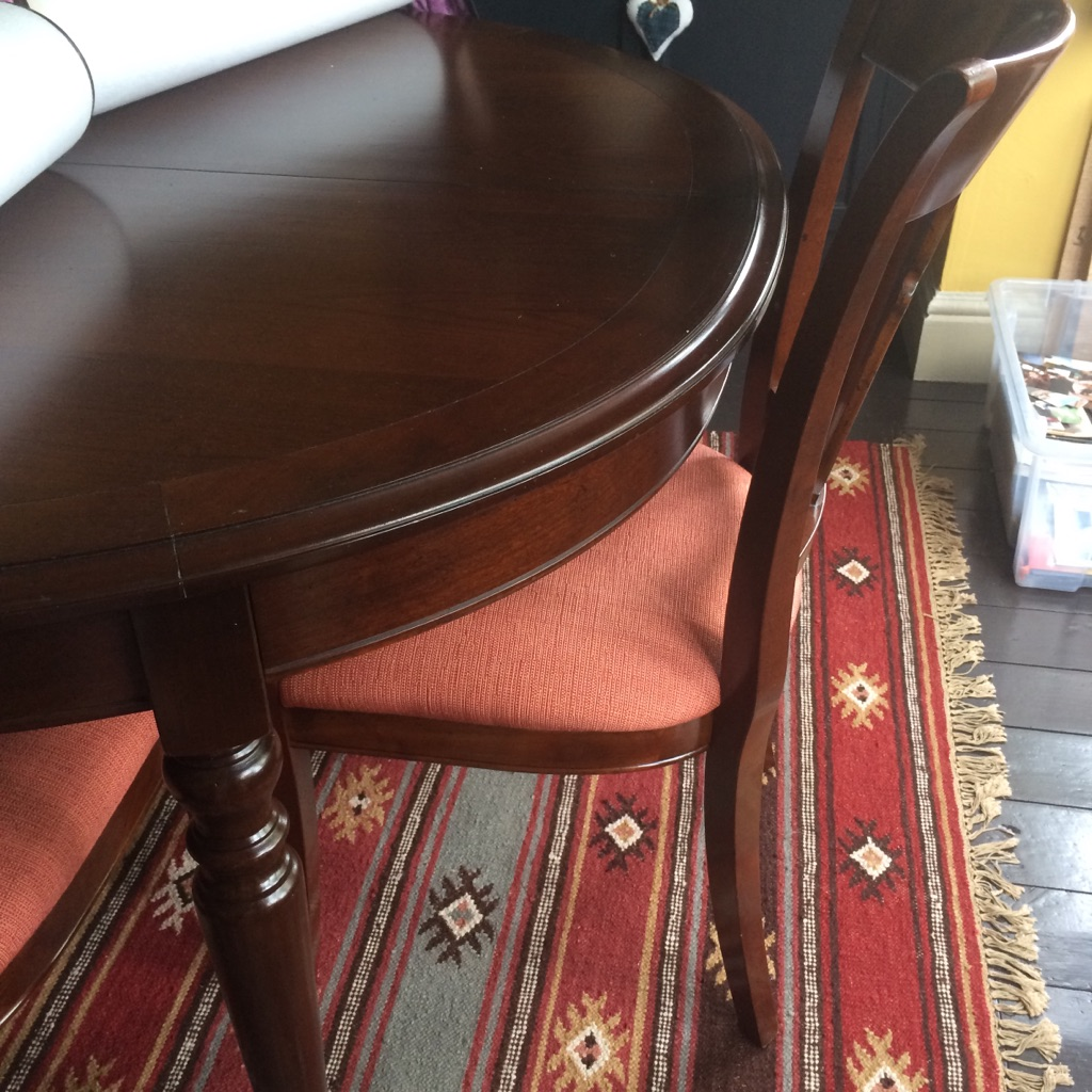 Lee longlands dining table and 8 chairs