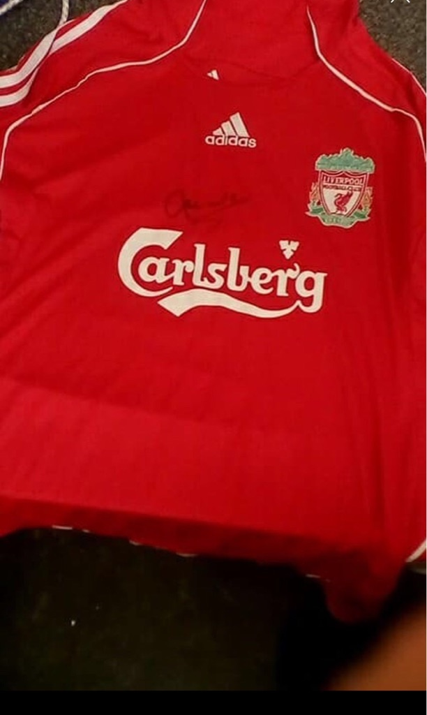 Liverpool signed football shirt
