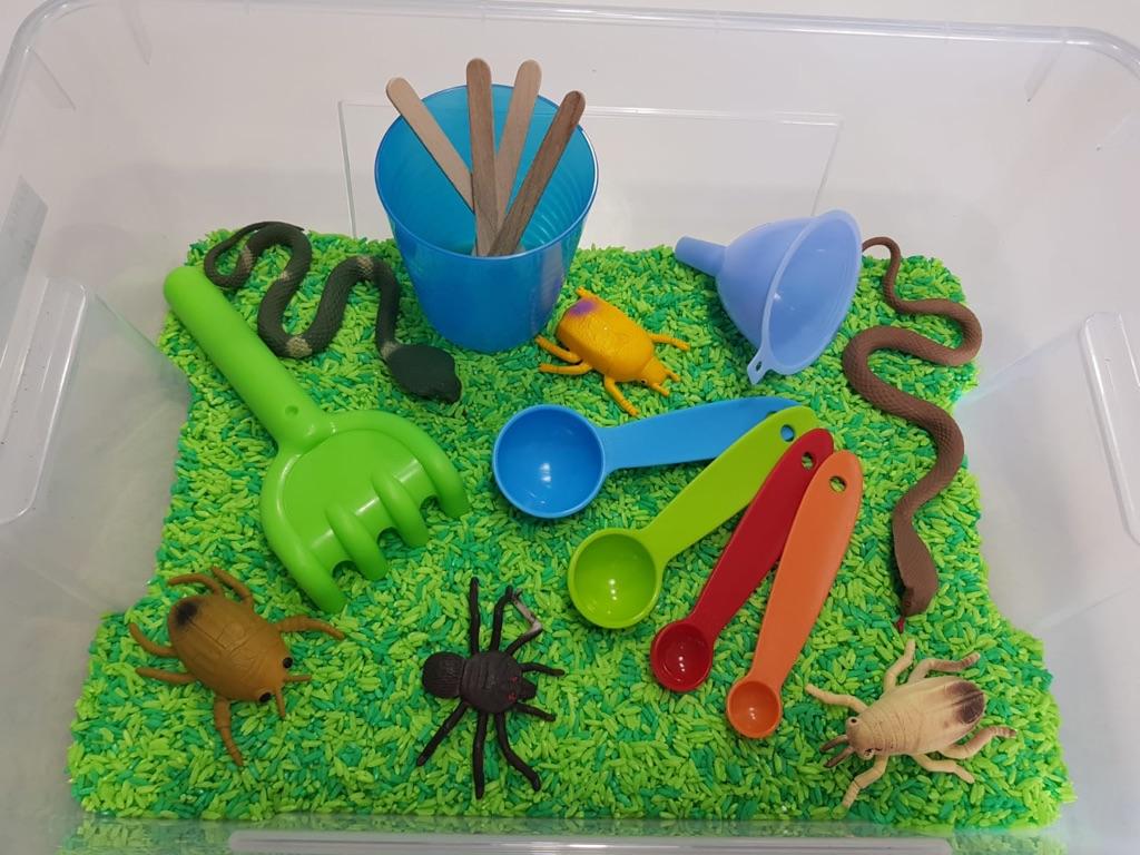 Sensory Bin, early years learning, Montessori