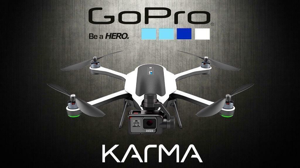 New GoPro Karma Drone Inc. Karma Grip, Stabilizer & Spare Propellers