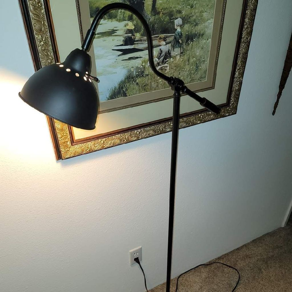 POTTERY BARN METAL STEAM PUNK BELL FLOOR LAMP