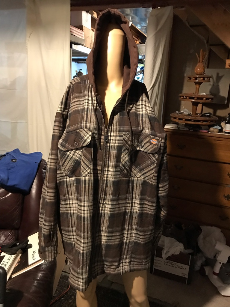 Dickies Flannel/Quilted Hooded Shirt Jacket