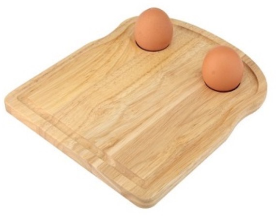 Egg breakfast toast board