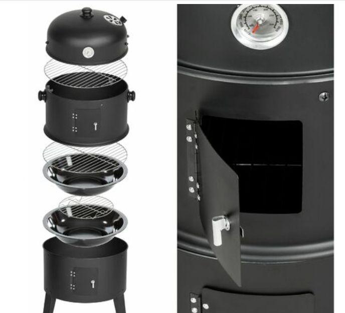 3 in 1 smoker BBQ barrel
