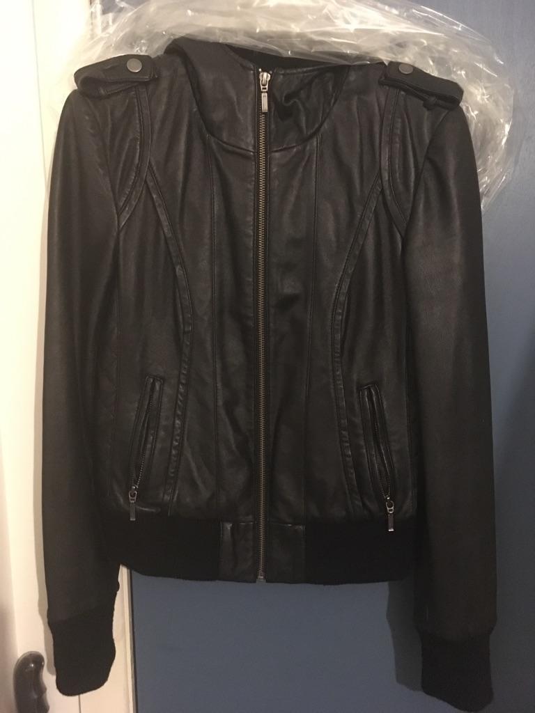 Bardot leather jacket size 8