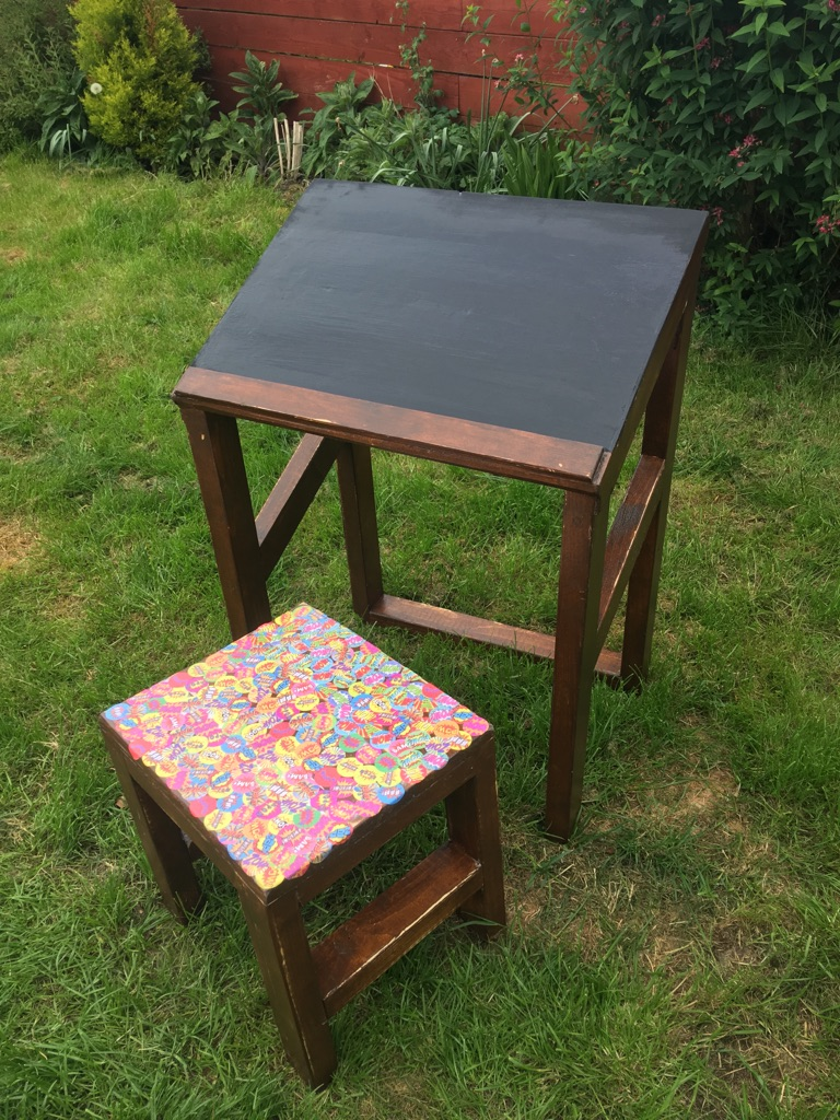 Homework bench and stool