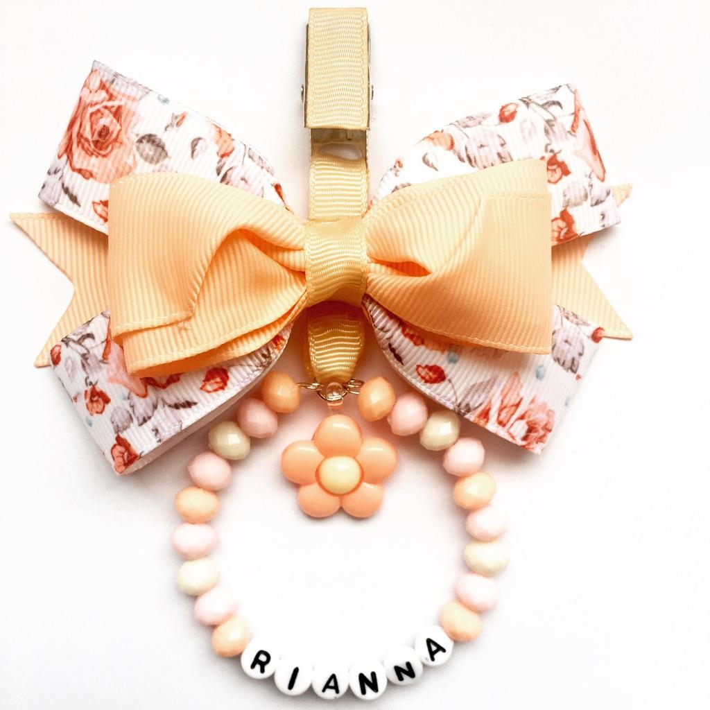 Peach flower pram charm