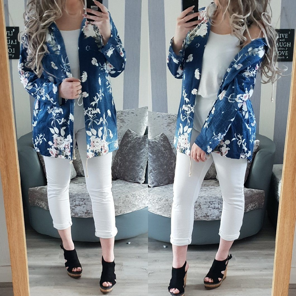 Floral Denim lightweight jacket - 2 colours