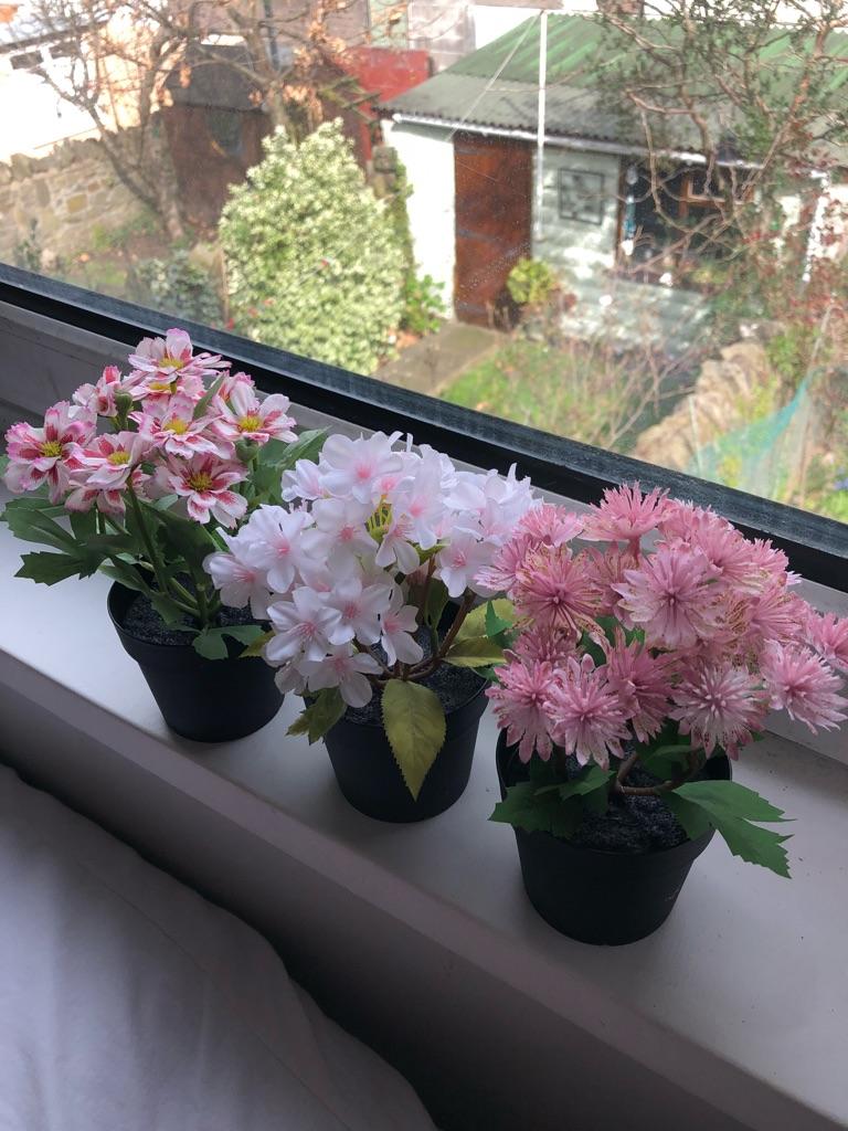IKEA set of 3 artificial flowers