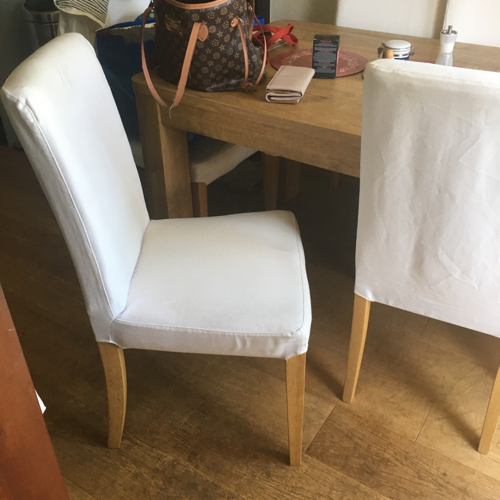 6x cream ikea chairs