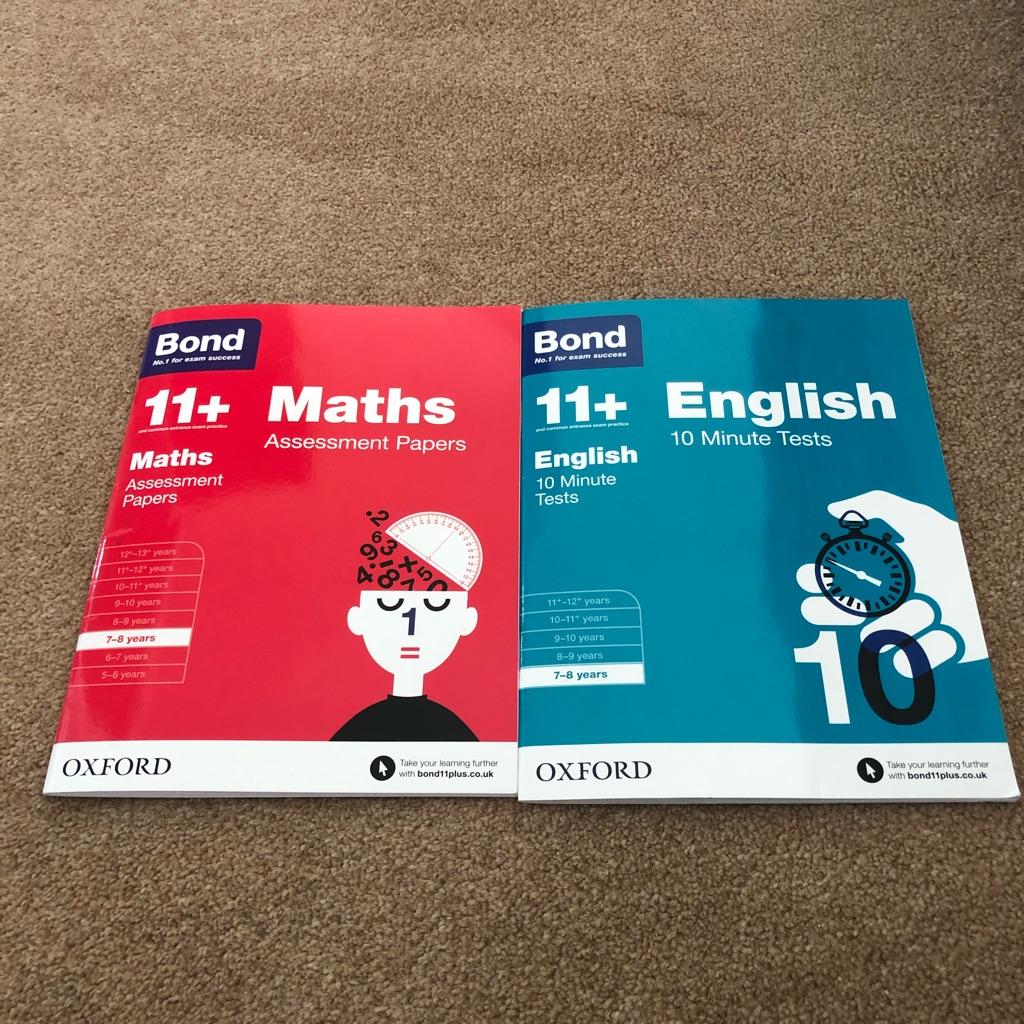 Brand new Bond Math and English practice books