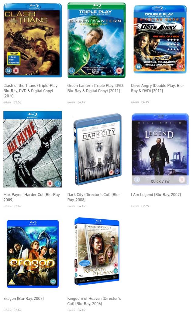 Blu-Rays (used)