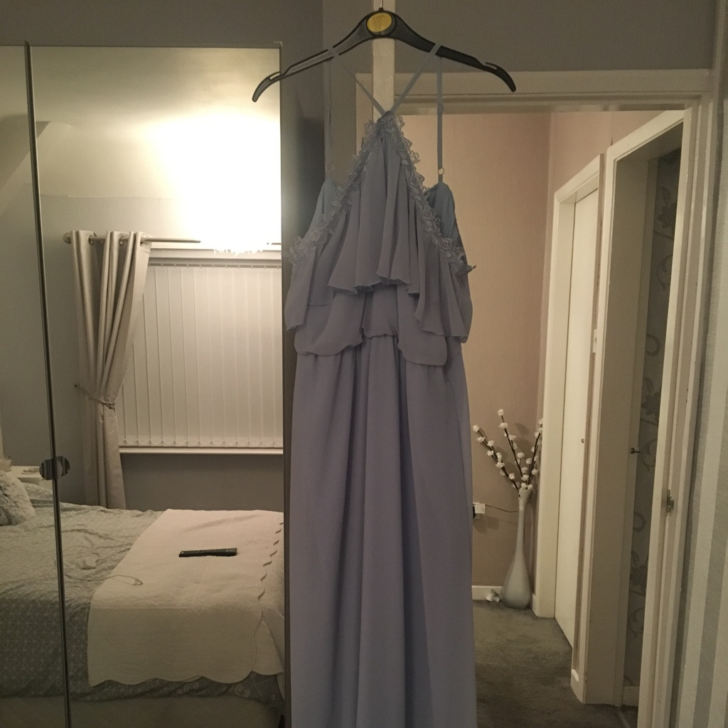 Sky blue special occasion dress size 10