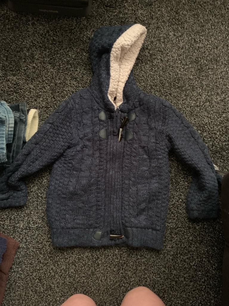 Fleece zipped cardigan