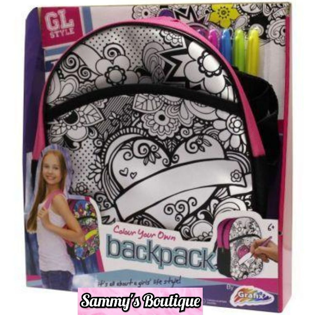 Grafix GL Style Colour Your Own Backpack