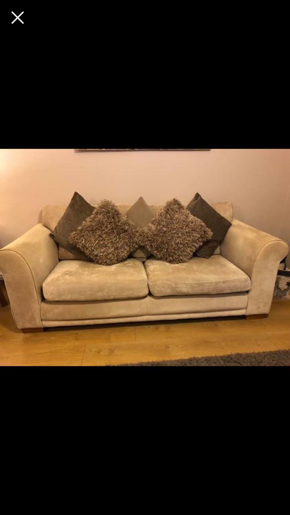 Next Light Mink Sofa