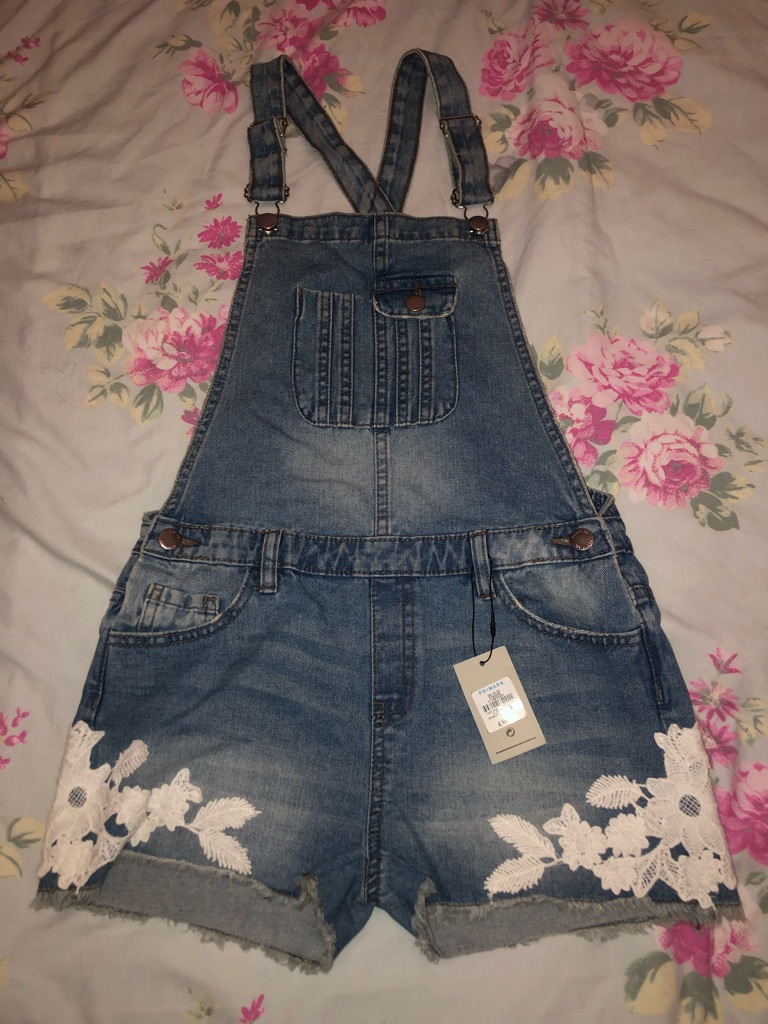 Girls dungaree shorts