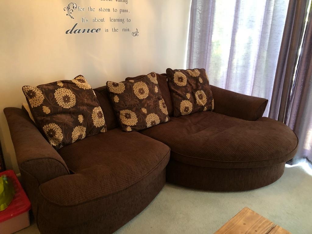 Brown sofa