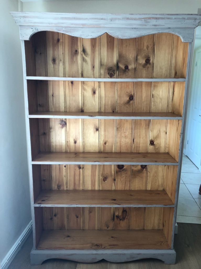 French style solid pine bookcase