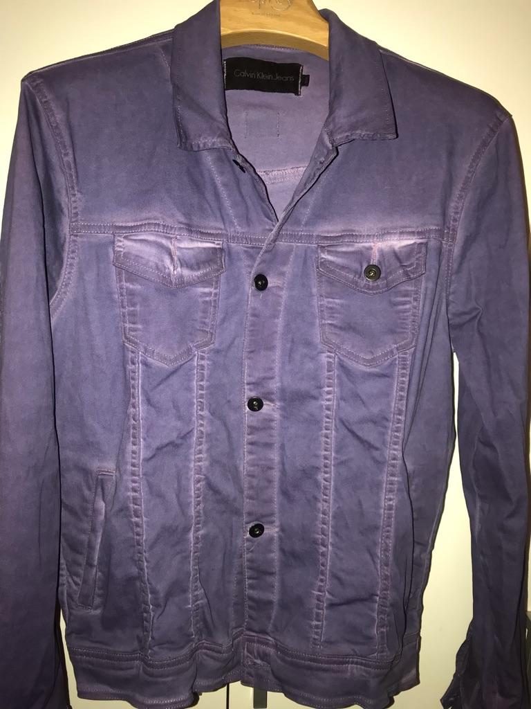 Calvin Klein Jacket UK Medium Dusty Blue Mens