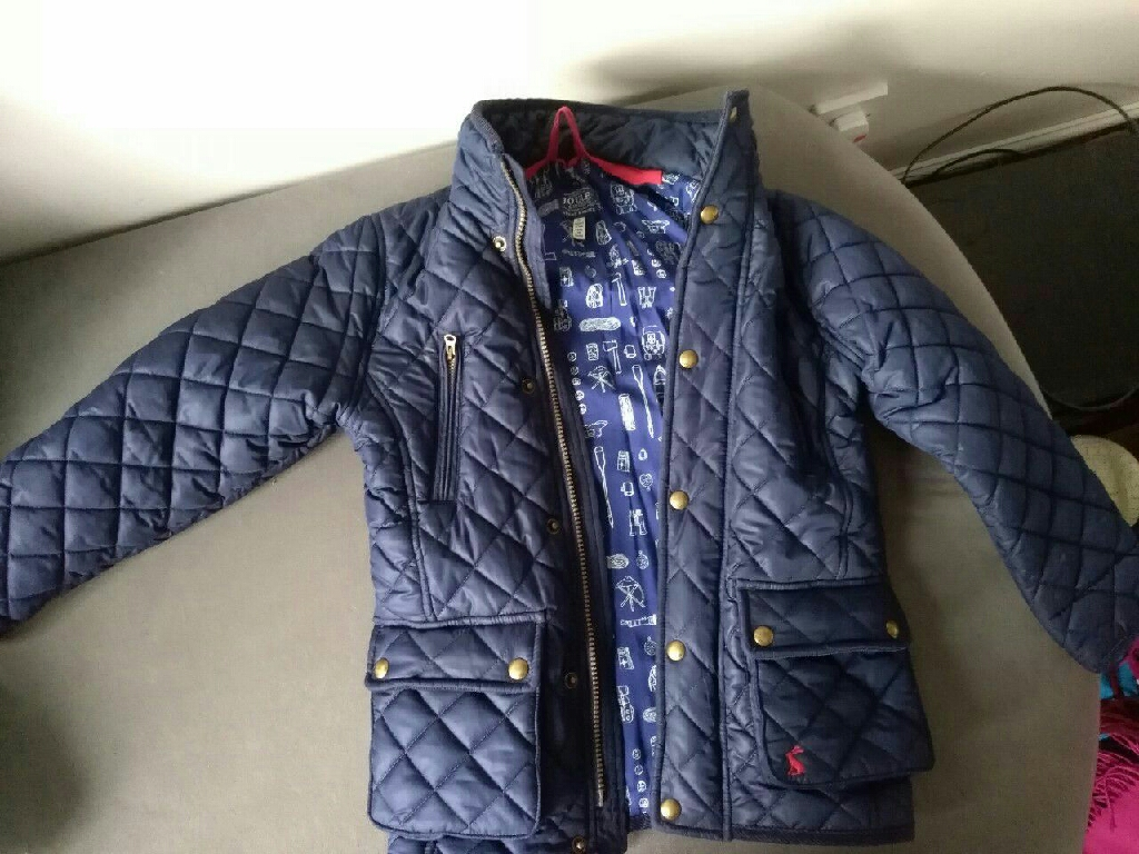 Joules navy jacket 7 years