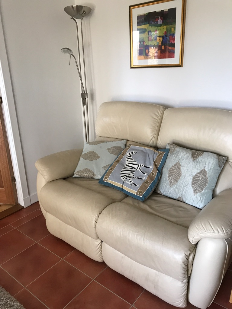 Two DFS Recliner Sofas