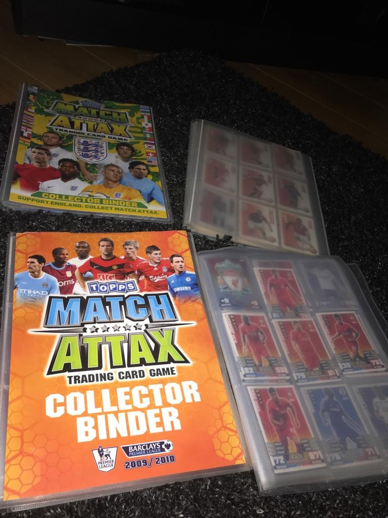 Football cards and book