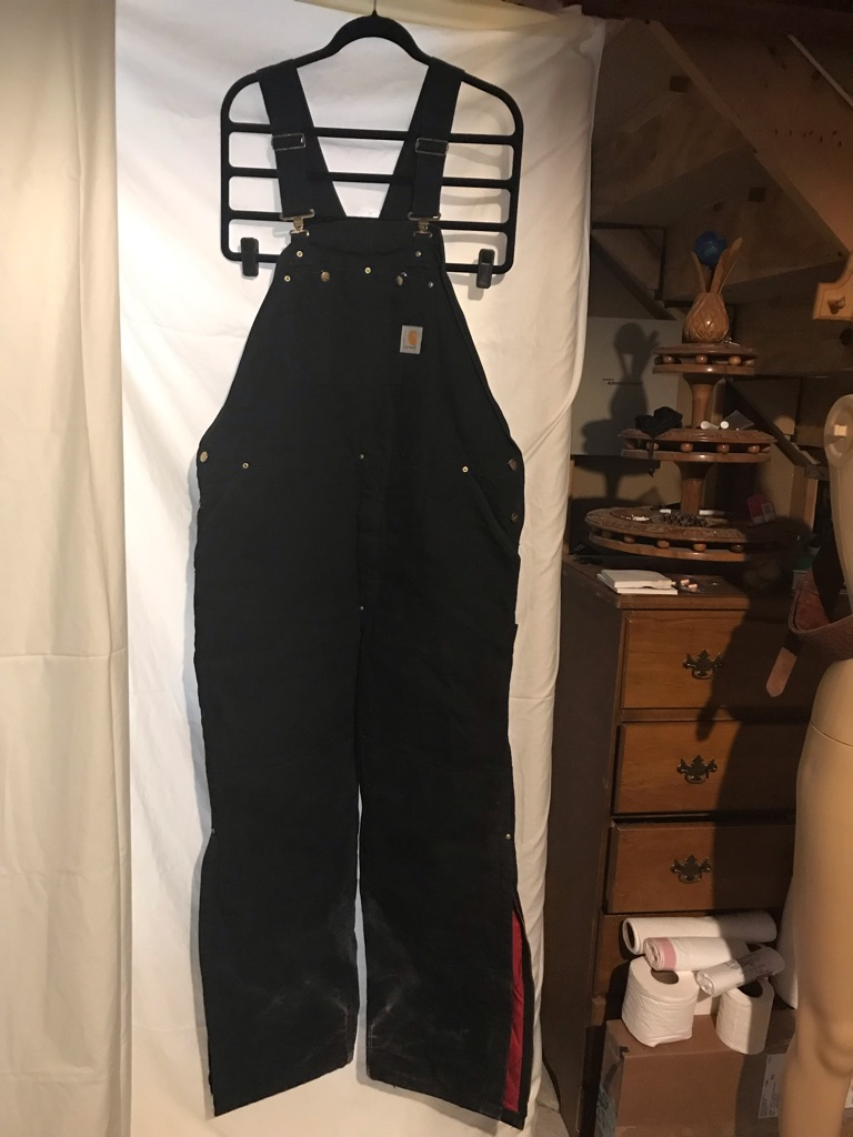 Carhartt Black Canvas Insulated Overalls