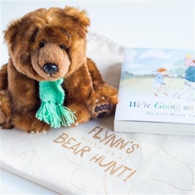 Personalised we're going on a bear hunt gift set