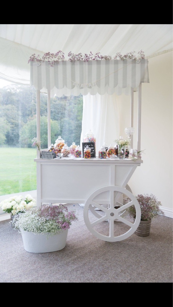 Candy cart, venue styling, rental hire, weddings, baby shower, events