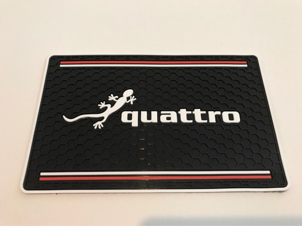 Car Non Slip Mats Gift Quattro AWD 4WD 4Motion 4X4 4Drive Audi S RS Mercedes Volkswagen BMW Seat Skoda Sport Tuning Four Wheel Drive