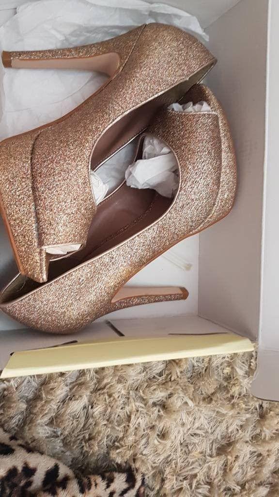 Next glitter nude heel size 4