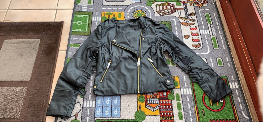Brand new faux leather jacket Size12