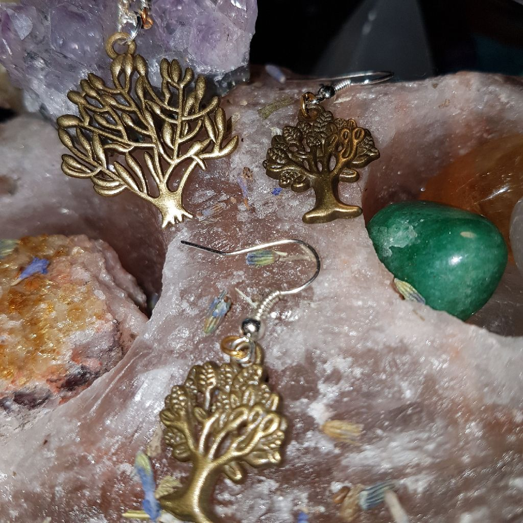 Tree of life earing and neckless set