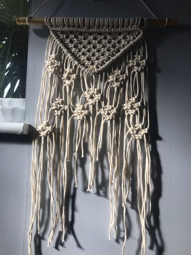 Macrame wall hanging decoration