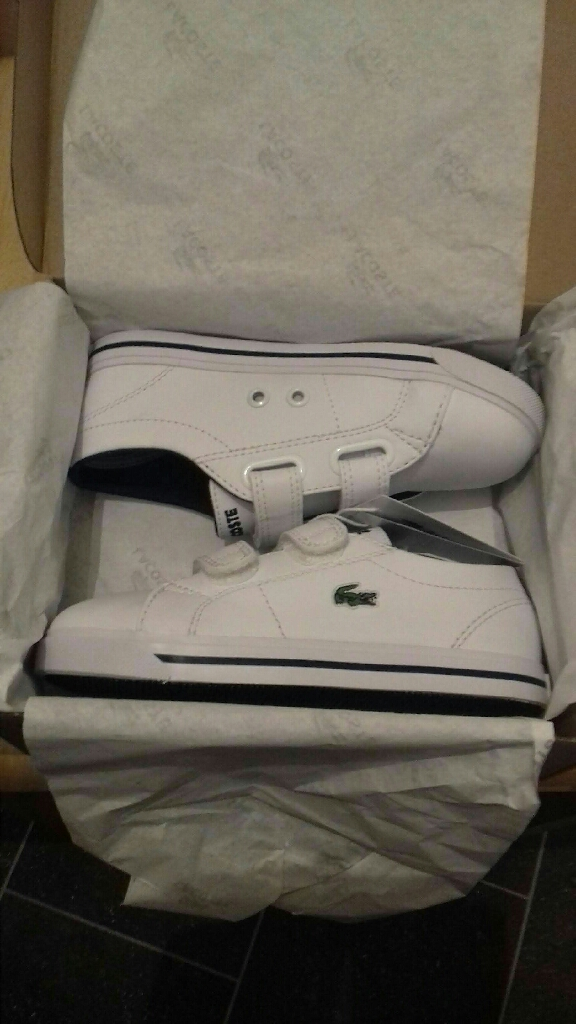 INFANT BOYS LACOSTE TRAINERS