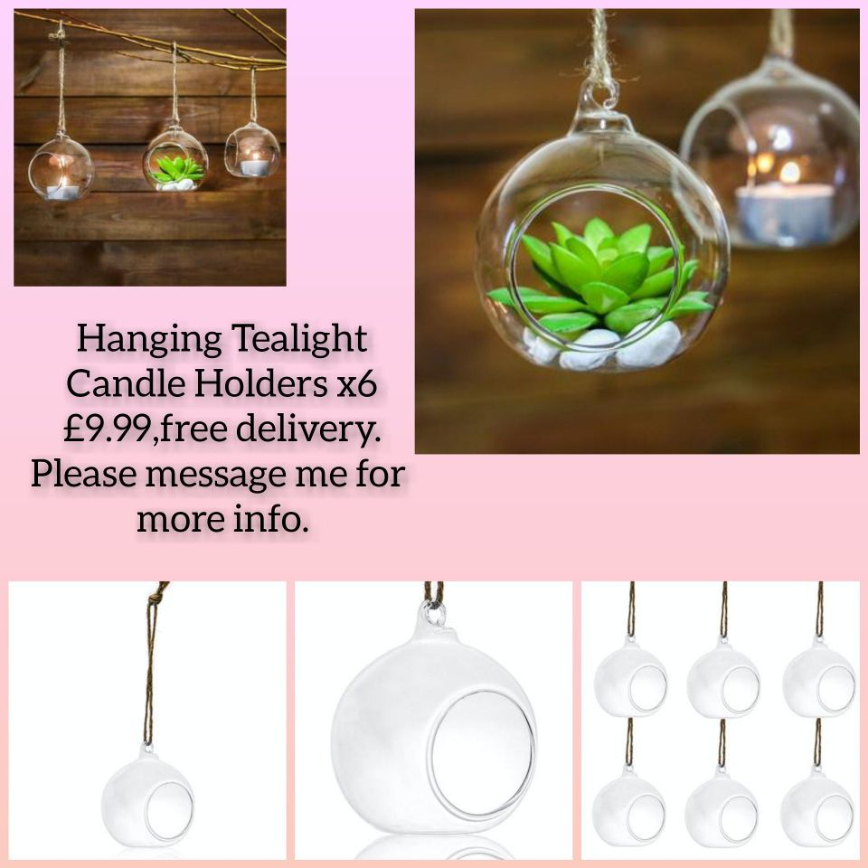 😍Hanging Tealight Candle Holders x6 💥£9.99