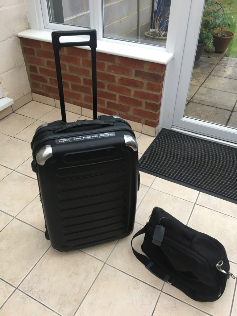 Suitcase and carry on bag