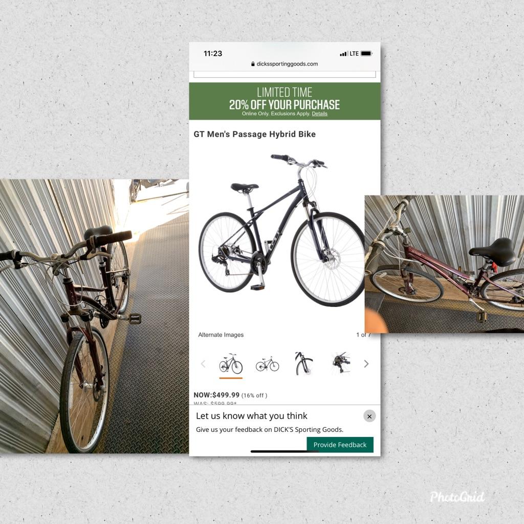 Men's Gt Passage Hybrid Bike