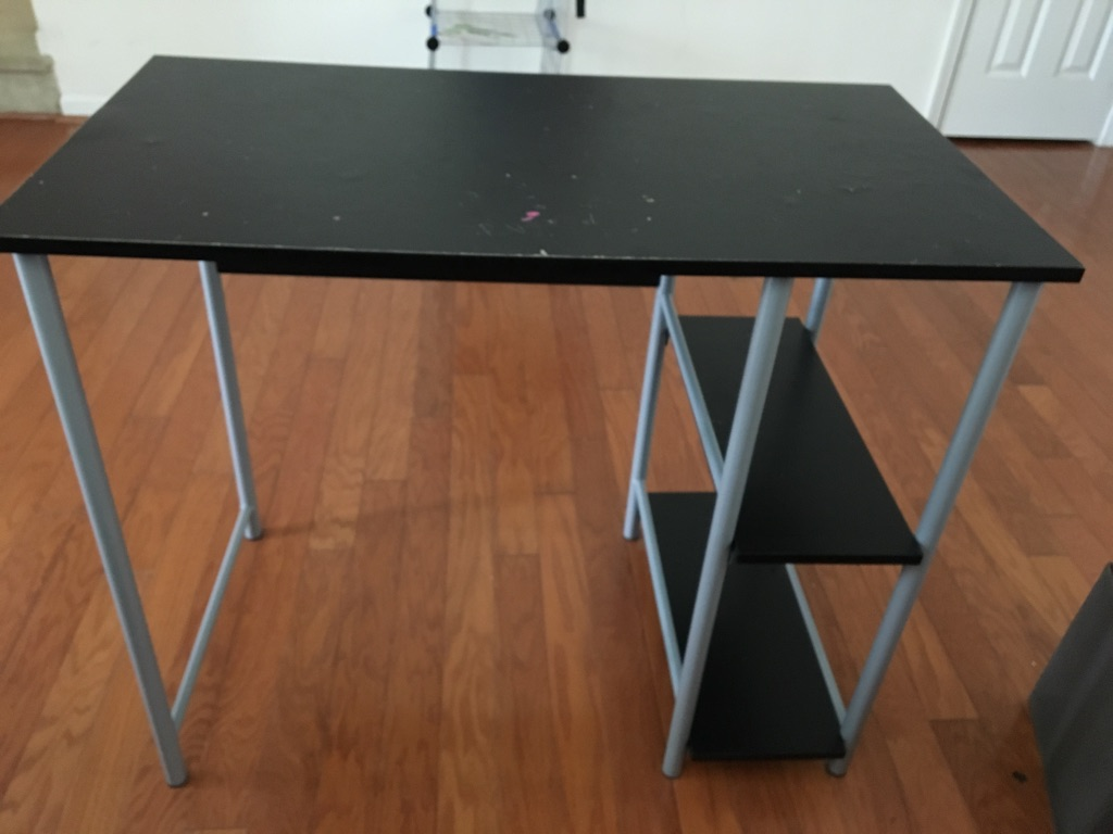 Study table with shelves