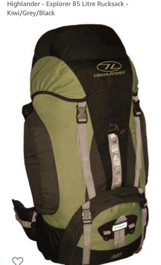 Highlander explorer 85 litre rucksack