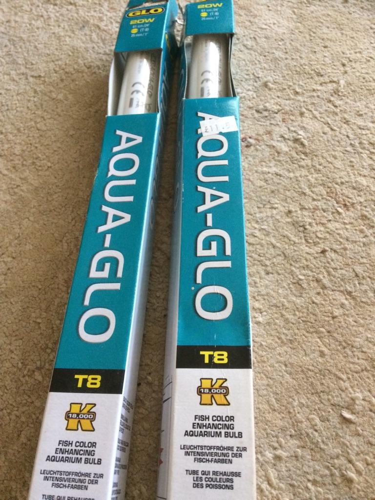 New T8 aqua glo Aquarium tubes