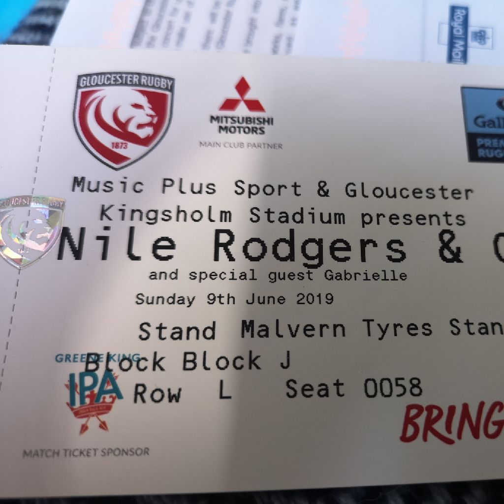 Nile Rogers & Chic seated ticket