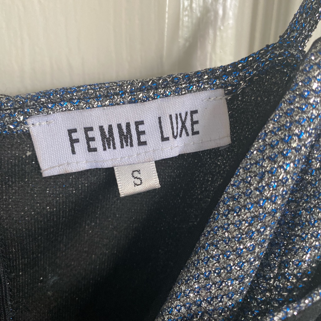 Femme luxe sparkly dress