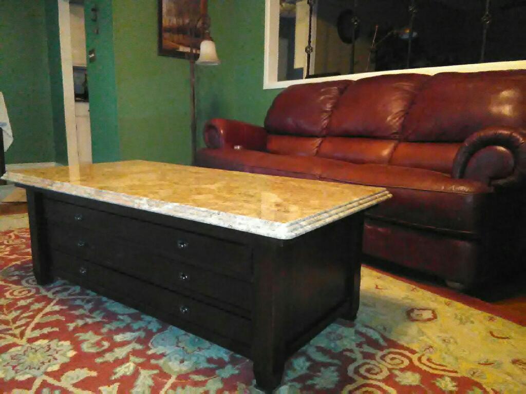 Granite Mahogany Coffee Table