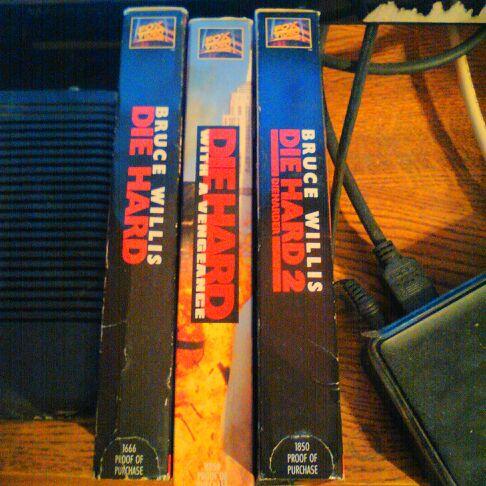 Die Hard Trilogy on VHS