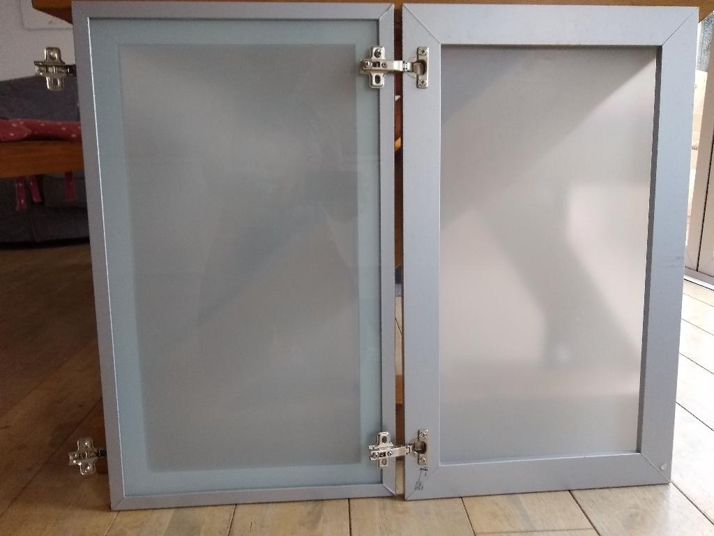 IKEA cupboard doors silver
